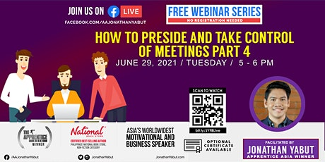 How to Preside and Take Control of Meetings, Part 4 tickets