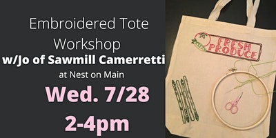 Embroidered Grocery Sack Workshop w/Jo of Sawmill Camerretti.