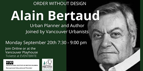Alain Bertaud: Urban Planner and Author tickets
