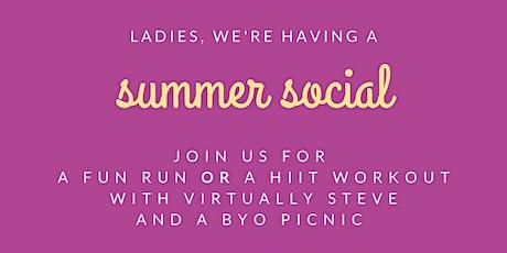 RLJ MEDIUM Summer Social Run (7pm) tickets