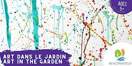 Art dans le jardin: peinture d'éclaboussure/ Art in the Garden: splat paint tickets
