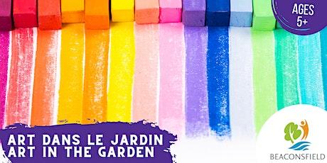 Art dans le jardin: tie-dye pastel / Art in the Garden: pastel tie-dye billets