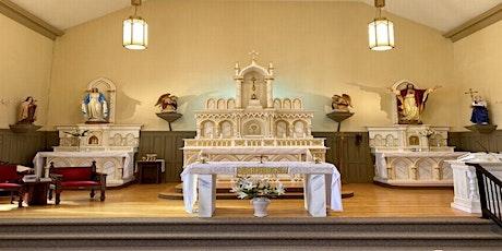 WATCH in Parish Hall with Eucharist: 10:30am Mass Sunday, August 8, 2021 tickets
