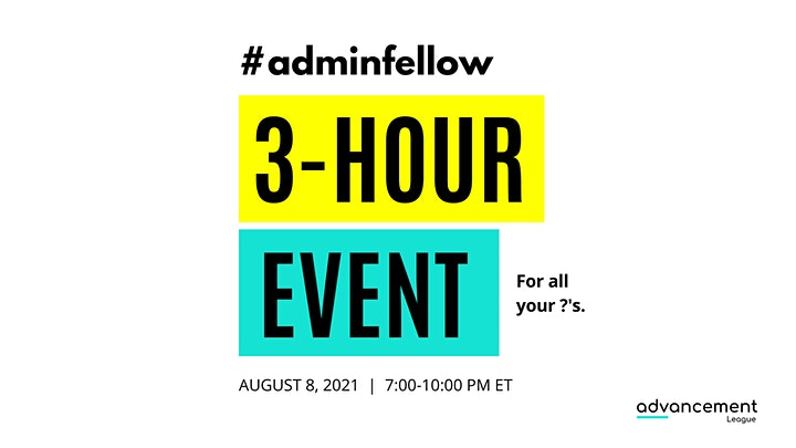 #ADMINFELLOW LIVE: ROUNDTABLE & APPLICATION EVENT image