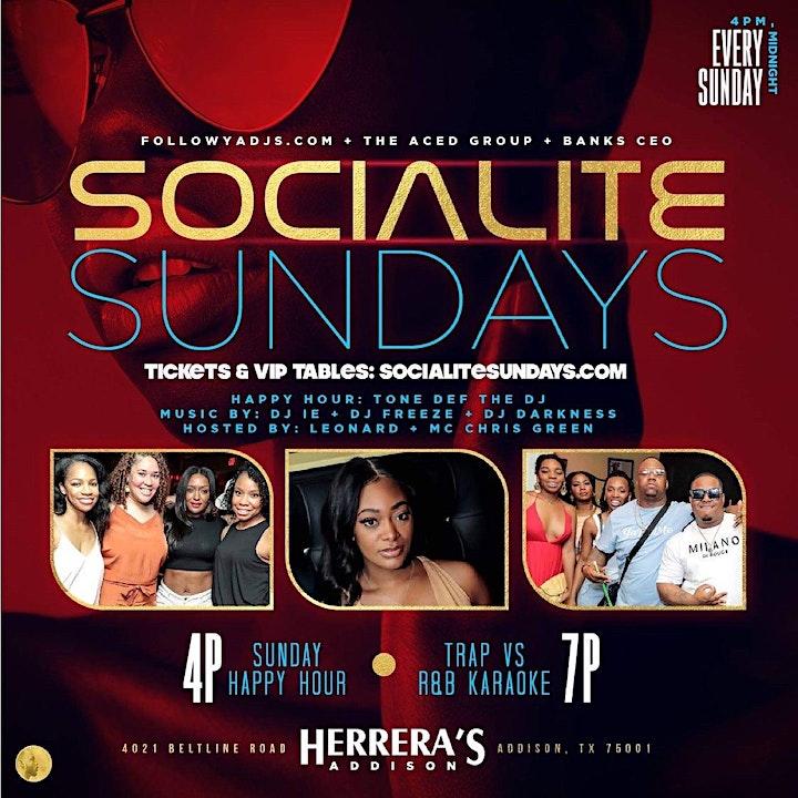 Socialite Sundays @ Herrera's Addison image