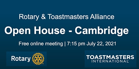 Community building: Rotary & Toastmasters Alliance in Cambridge tickets
