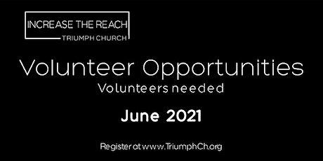 Volunteer @ Triumph Church (June 26-30, 2021) tickets