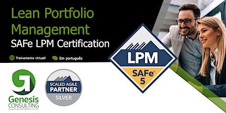 Lean Portfolio Management - Certificação SAFe LPM - Live OnLine - Português ingressos