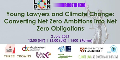 Young Lawyers and Climate Change: Converting  Ambitions into Obligations tickets
