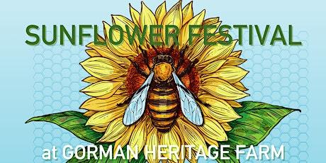 Sunflower Festival at Gorman Heritage Farm tickets