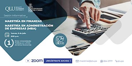 Sesión Informativa - Maestrías en Finanzas & MBA entradas
