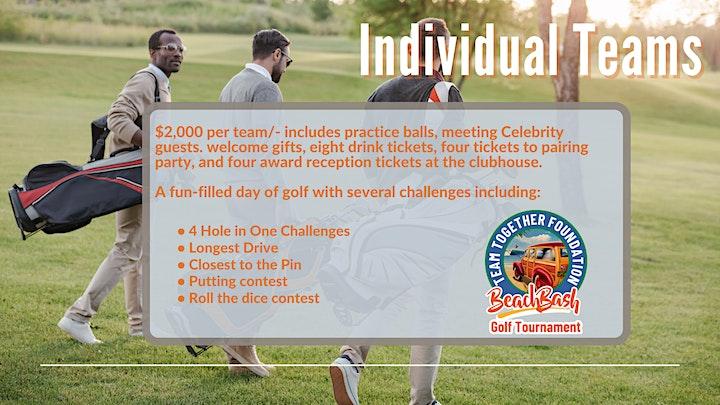 Team Together Foundation  Beach Bash Golf Tournament image