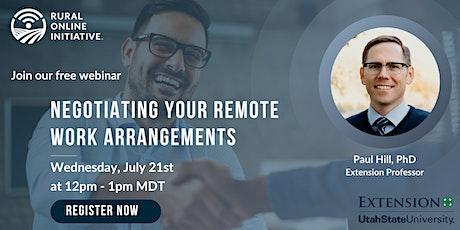 Negotiating Your Remote Work Arrangements tickets