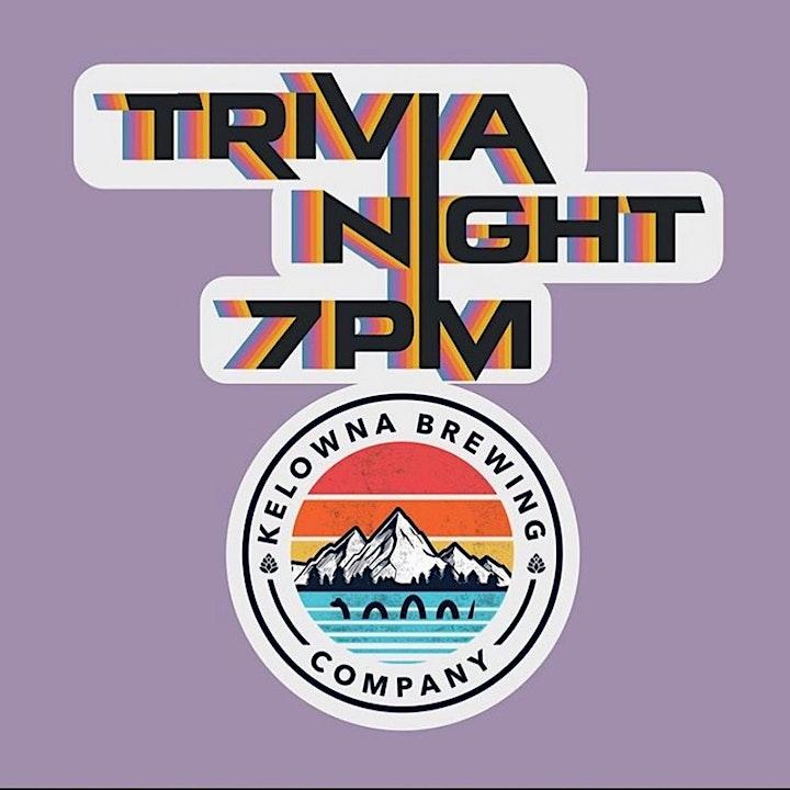 Tuesday Night Trivia at Kelowna Brewing Company! image
