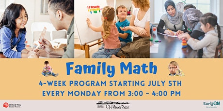 Family Math  - For Families with Children 3-5 Years Old! tickets