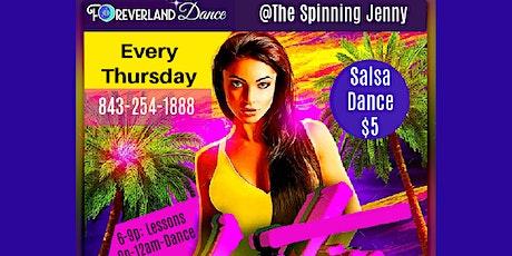 Latin Dance & Lessons in Greer - Foreverland Salsa Thursdays tickets