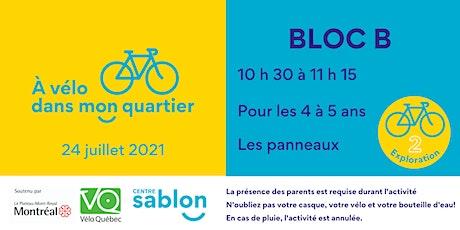 À Vélo dans mon quartier - 24 juillet 2021 - Bloc B tickets