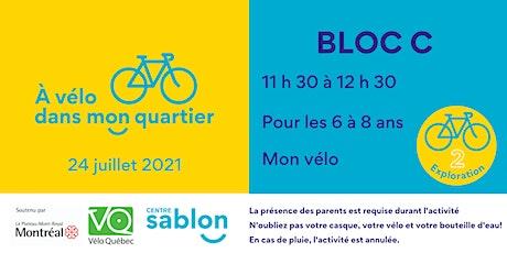 À Vélo dans mon quartier - 24 juillet 2021 - Bloc C tickets