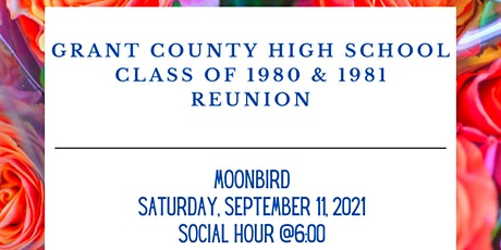 Grant County High School Class of 1980 & 1981 Reunion tickets