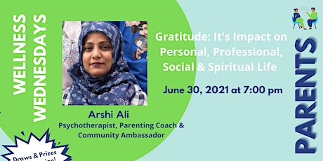 Gratitude and its impact on personal, social and professional -Parents tickets