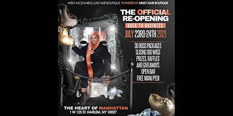 """The Official NY Re-Opening """"Back to Business"""" tickets"""