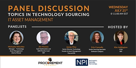 Topics In Technology Panel Discussion - IT Asset Management tickets