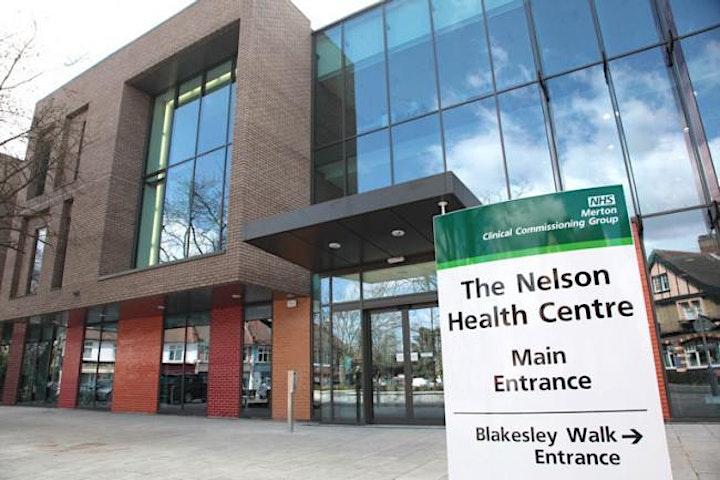 COVID-19 Vaccinations at The Nelson  Health Centre, Wimbledon  - Pfizer/Az image
