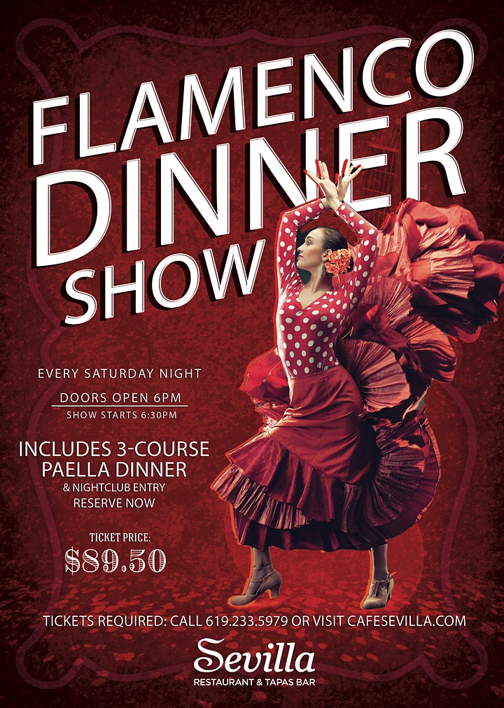 The Art of Flamenco Dinner Show at Cafe Sevilla of San Diego image