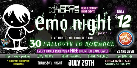 EMO NIGHT Music & Karaoke Party at Dave & Buster's tickets