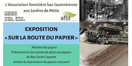 Fabrication de papier artisanal -  Exposition « Sur la route du papier » billets