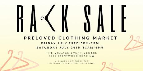 Rack Sale - PreLoved Clothing Market tickets