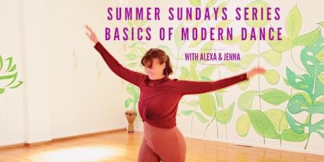 Basics of Modern Dance: Summer Series tickets