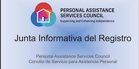 Sesión Informativa sobre el Registro - Julio 2021 entradas