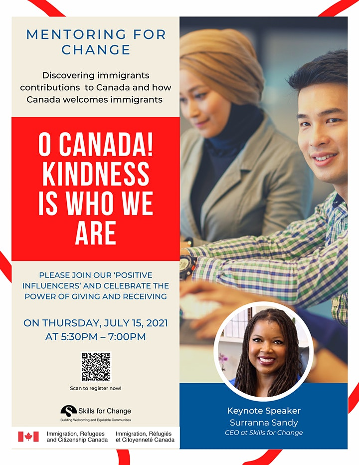 Mentoring for Change: O Canada! Kindness is who we are. image