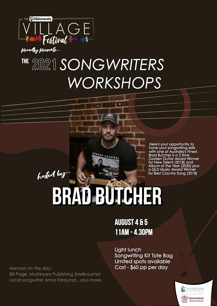 CQ Village Fest. - Songwriters Workshops with Brad Butcher image