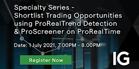 Shortlist Trading Opportunities using ProRealTime tickets