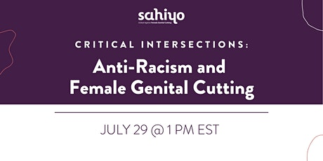 Critical Intersections: Anti-Racism and Female Genital Cutting tickets
