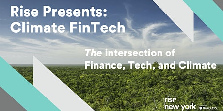 Climate FinTech: The Intersection of Finance, Tech, and Climate tickets