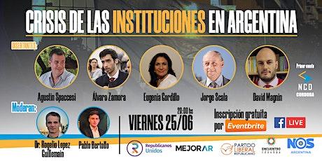 Crisis de las Instituciones en Argentina: Una mirada desde Córdoba entradas