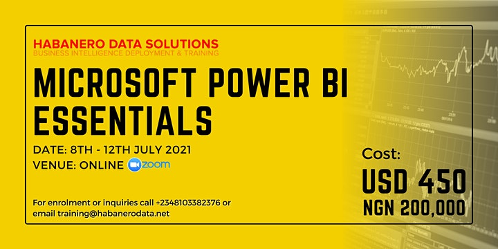 Data Analytics & Business Intelligence Training Using Power BI - July 2021 image