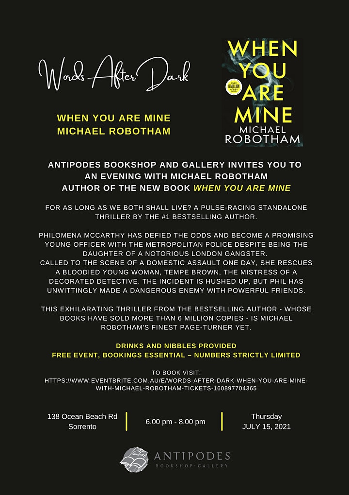Words After Dark - 'When You Are Mine' with Michael Robotham image