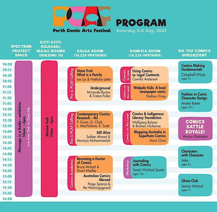 Perth Comic Arts Festival 2021 image