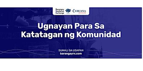 Barangay Resilience Exchange tickets