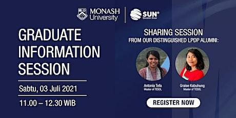Monash Graduate Info Session - 3 Juli 2021 tickets