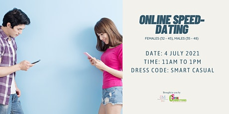 Online Speed-Dating Event! (F 32 - 45, M 35 - 48) (50% OFF) tickets