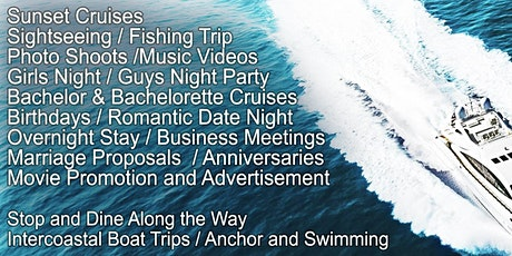PRIVATE BOAT CHARTERS AND PARTIES tickets
