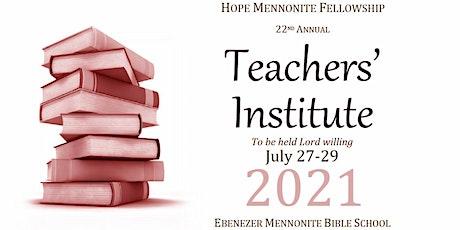 Hope Teachers' Institute 2021 tickets