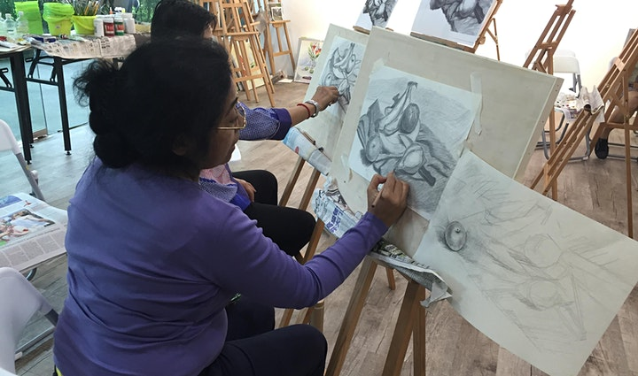 INTRO COURSE: Drawing & Sketching 8 Sessions Course for Two - AZ@Paya Lebar image
