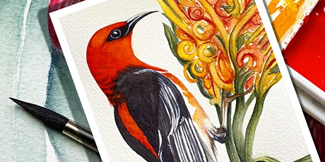 Watercolour Inspired by Local Birds & Blooms Workshop 2 tickets