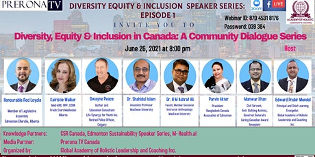 """""""Diversity, Equity and Inclusion in Canada: The Community Dialogue Series"""" tickets"""